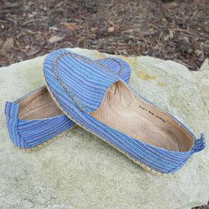 Born | Sitton Espadrille | slip-on blue fabric